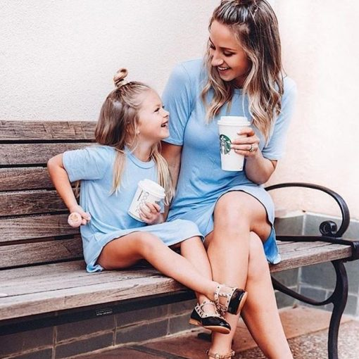 Mother Daughter Dresses Family Matching Clothes Outfits 2