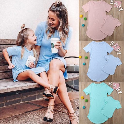 Mother Daughter Dresses Family Matching Clothes Outfits 3
