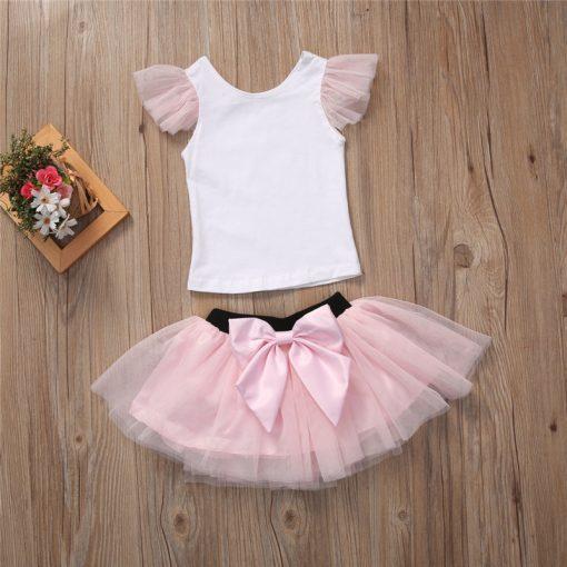 Lovely T-shirt + tutu Skirt Mother Daughter Dresses for Summer Wear 2