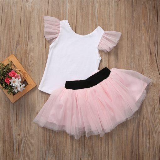 Lovely T-shirt + tutu Skirt Mother Daughter Dresses for Summer Wear 3