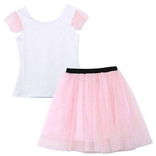 Lovely T-shirt + tutu Skirt Mother Daughter Dresses for Summer Wear 4