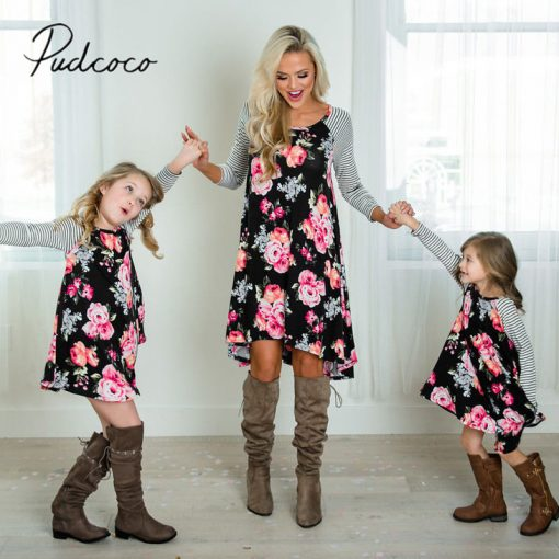 New Mother Daughter Dress Summer Casual Family Clothes 2018 1