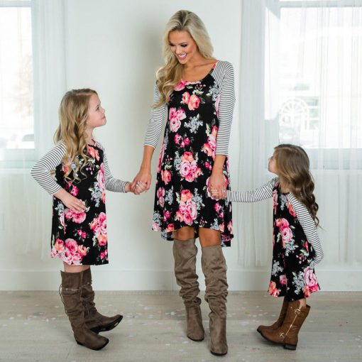 New Mother Daughter Dress Summer Casual Family Clothes 2018 5