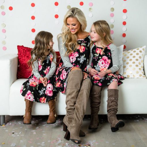 New Mother Daughter Dress Summer Casual Family Clothes 2018 3