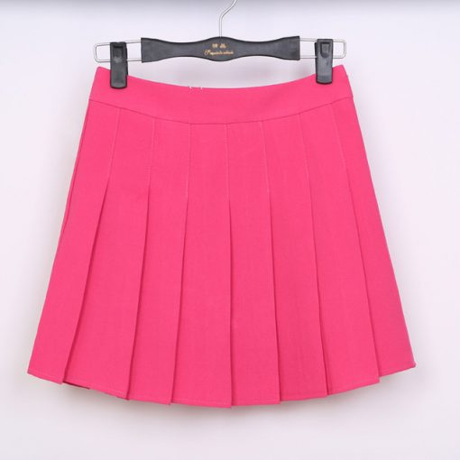 High Waist Solid Color Half Length Spring Skirt 6
