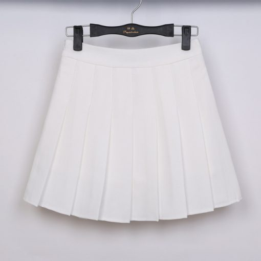 High Waist Solid Color Half Length Spring Skirt 5