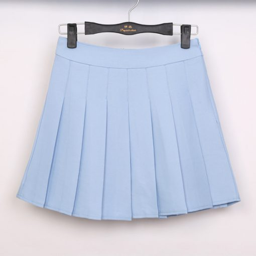 High Waist Solid Color Half Length Spring Skirt 4