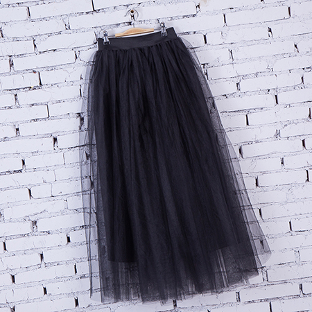 Spring Fashion Womens Lace Fairy Style 4 layers Voile Skirt 2018 4