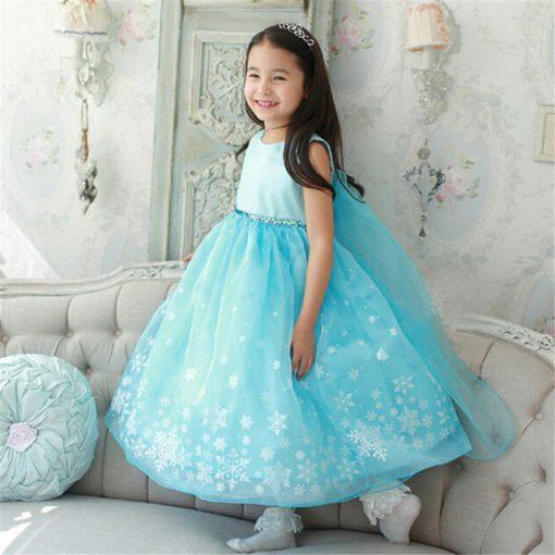 Wedding Party Long Snowflake Princess Tutu Dress 1