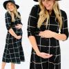 New Fashion Maternity Long Sleeves Plaid Pregnancy Clothes 5