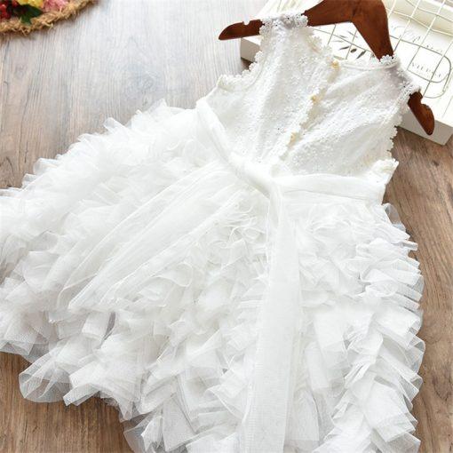 Fluffy Cake Smash Christmas Dress for Girl 5
