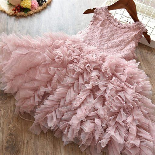 Fluffy Cake Smash Christmas Dress for Girl 4