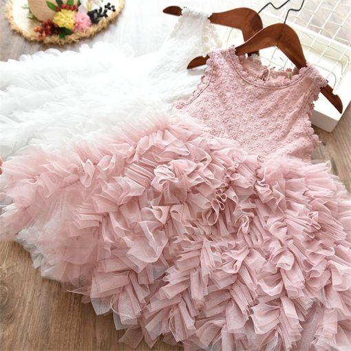 Fluffy Cake Smash Christmas Dress for Girl 1