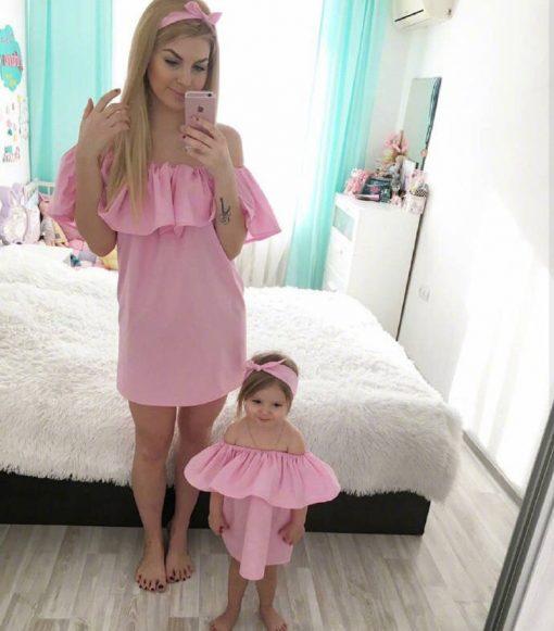 Family Set Mother & Daughter Dress for Festivals 1