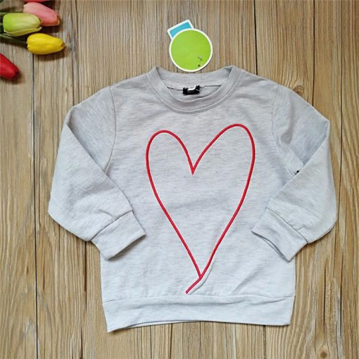 Family Matching Mother Daughter Heart Printed Hoodies & Sweatshirts 3