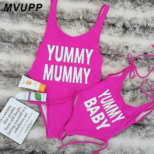 Mother and Daughter swimsuit Clothing 5