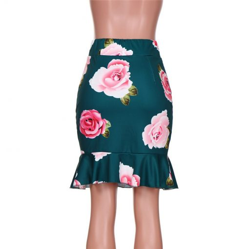 Flower Printed Mommy and Me Spring Skirt 3