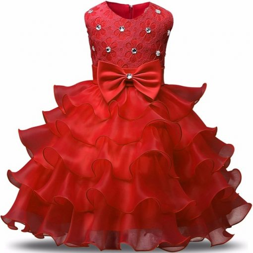 Cozy Ribbons Sleeveless Christmas Dress for Girls 1