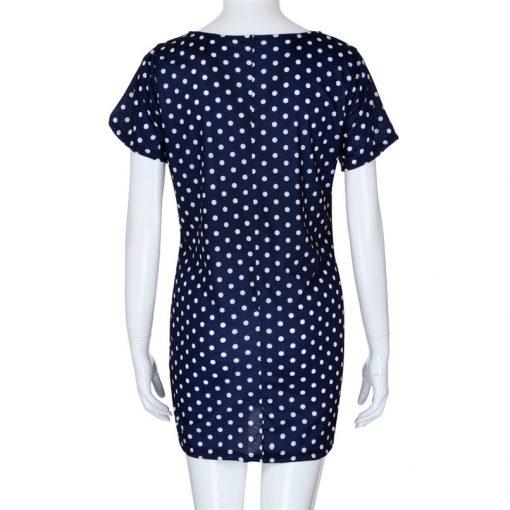 New Short Sleeve Dot Sheath Mini for Pregnant Women 2018 2