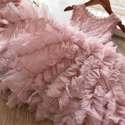 Fluffy Cake Smash Christmas Dress for Girl 2