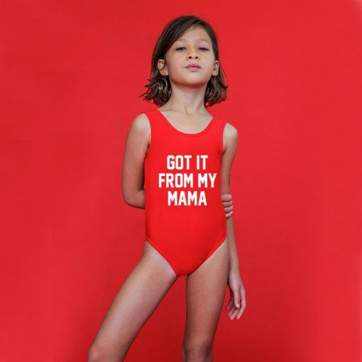 Mother And Daughter Letters Swimsuits 2018 2