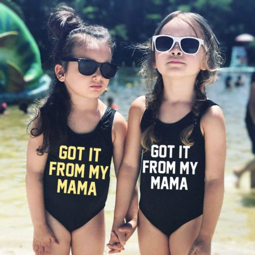 Mother And Daughter Letters Swimsuits 2018 3