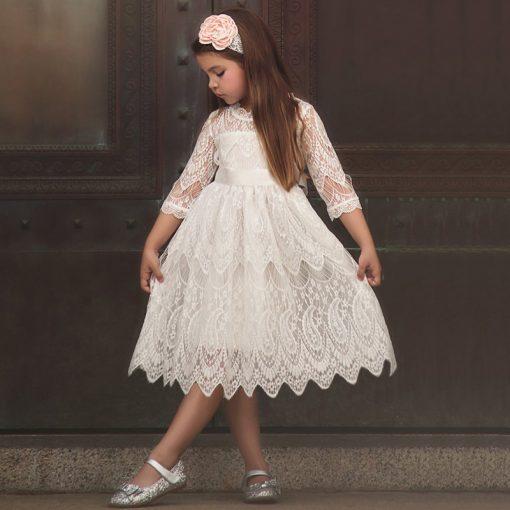 Tutu Flower Dress Fluffy Wedding Gown  for Infant 1