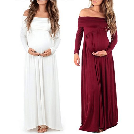 Off Shoulders Cowl Neck Maternity  Women Dress 1