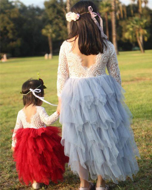 Princess Tutu Long Sleeve Dress for Girls 1