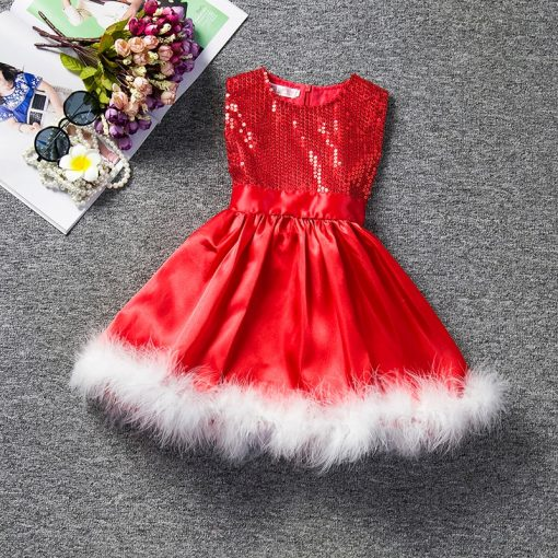 Cute Sequins Christmas Dress for Girls 2019 1