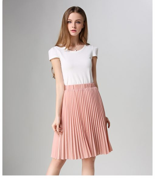 European Style Elegant Pleated Skirt for Spring & Autumn 2018 1
