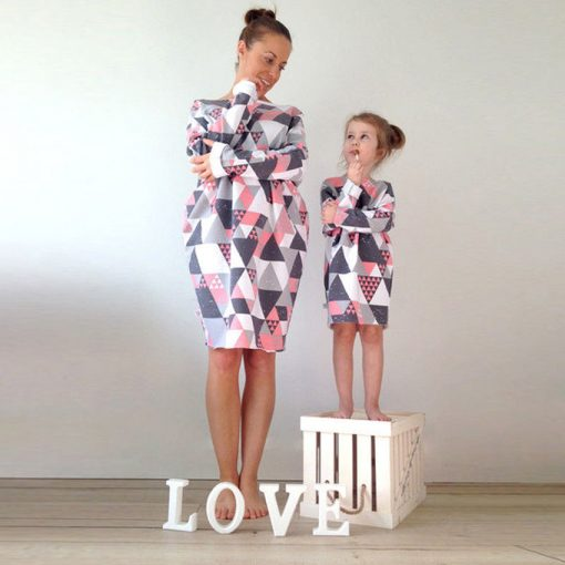 Mommy and Me Family Matching Dress 2019 1