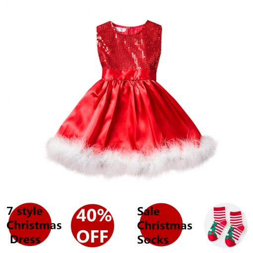 Cute Sequins Christmas Dress for Girls 2019 5