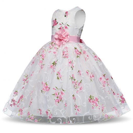 Summer Flower Printed Tutu Dress for Girls 3