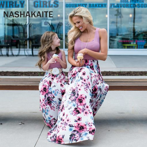 Mother Daughter Family Matching Dresses 1