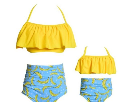 Mommy and Me Bikini Bahitng Swimsuit Brachwear 4