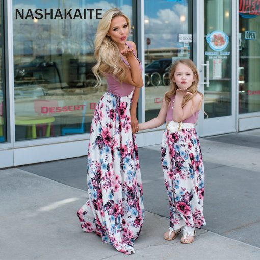 Mother Daughter Family Matching Dresses 4