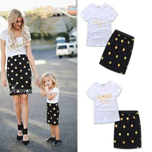 Mother and Daughter Matching Spring Skirt 1