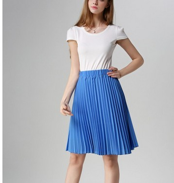 European Style Elegant Pleated Skirt for Spring & Autumn 2018 3