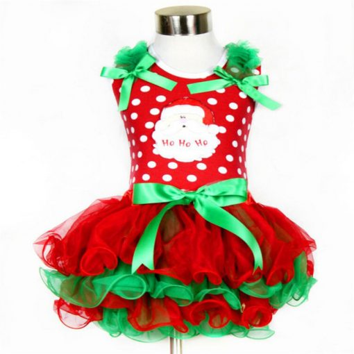 Red Baby Christmas Dress for Girls 6