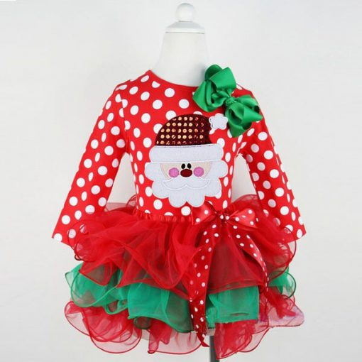 Red Baby Christmas Dress for Girls 5