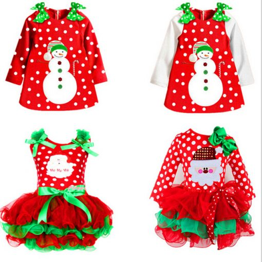 Red Baby Christmas Dress for Girls 1