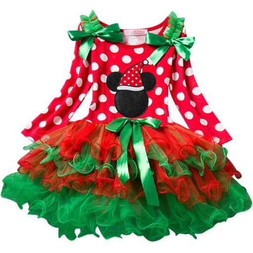 Red Baby Christmas Dress for Girls 4
