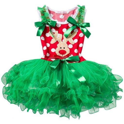 Red Baby Christmas Dress for Girls 3