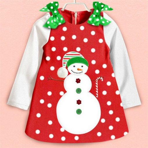 Red Baby Christmas Dress for Girls 2