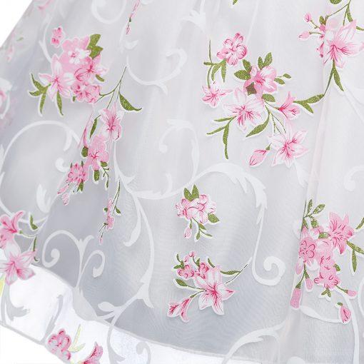 Summer Flower Printed Tutu Dress for Girls 2