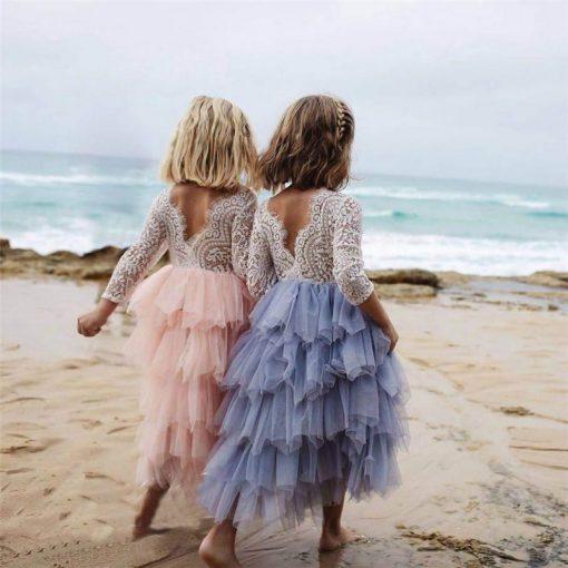 Princess Tutu Long Sleeve Dress for Girls 3