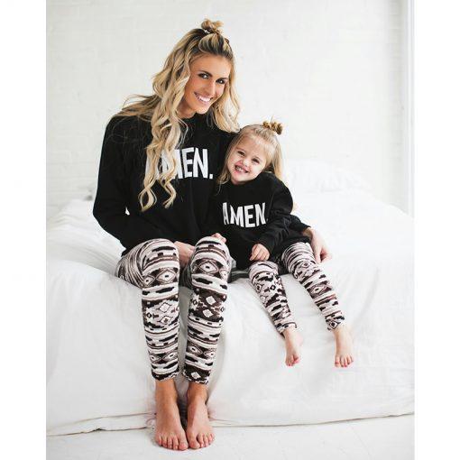 Mommy and Me Matching Soft Elastic Leggings 1