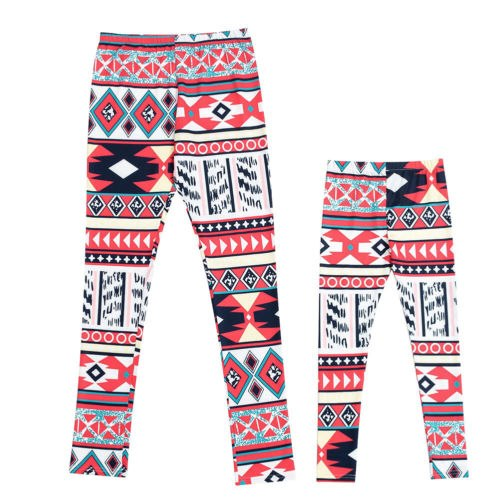 Mommy and Mini Me Tribal Print Leggings 2