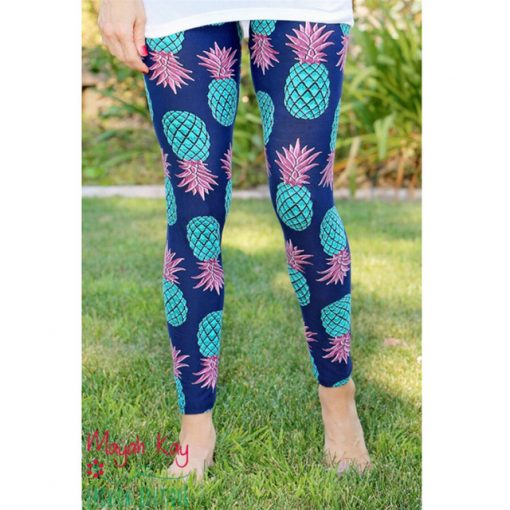 Mother and Daughter Pineapple Print Matching Leggings 2
